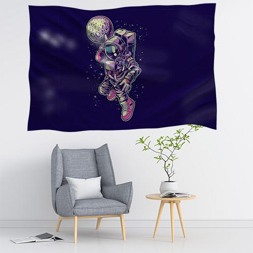 Duvar Örtüsü Astronot Uzay Temalı