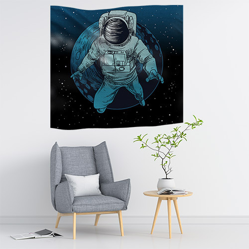 Duvar Örtüsü Astronot Ay
