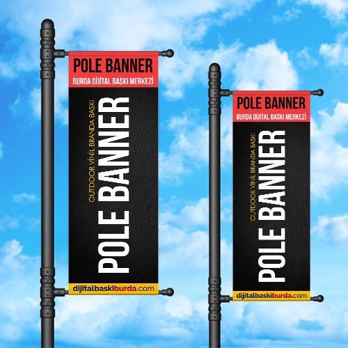 pole banner outdoor vinil branda baskı